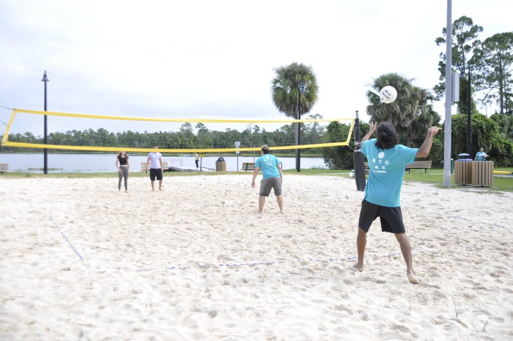 RWC Sand Volleyball Courts at Lake Claire. .