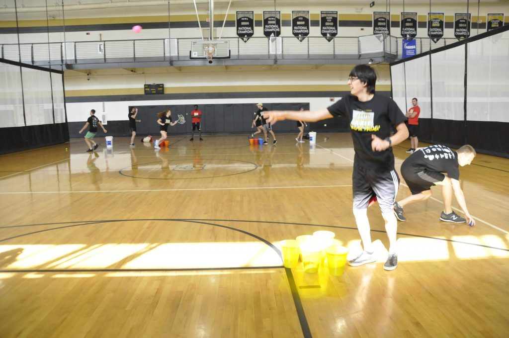 Students competing in RecFest 29 on Multipurpose Court 3