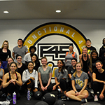 RWC Students inside the F45 Group Exercise Studio.