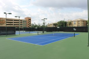 UCF RWC Tennis Complex (showing UCF logo and blue courts)