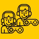 Girl and Boy gamer logos thumbmail.