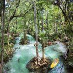 kayaker in rock springs run
